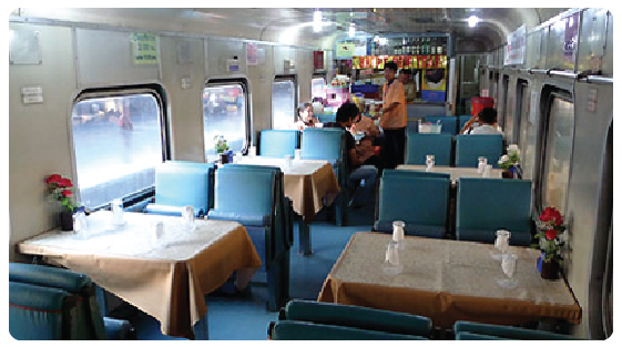 Air-Con Restaurant car on the train